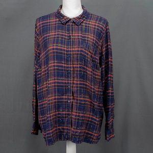 Lucky Brand Womens Blouse Top Shirt Sz XL